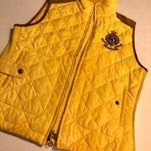 POLO RALPH LAUREN YELLOW VEST